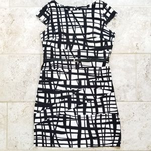 Dress Barn Pattern Cap Sleeved Dress